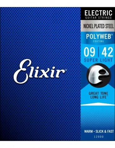 Elixir 12000 Polyweb Coated - Super Light / (.009-.042)