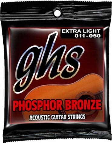 GHS S315, PHOSPHOR BRONZE 6-STRING - Extra Light, 011-050