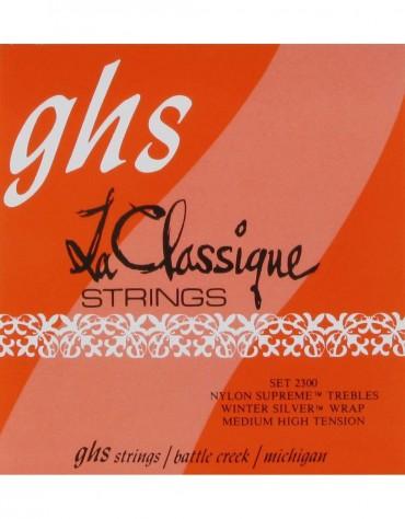 GHS 2300, LA CLASSIQUE® - Medium High Tension, Nylon Supreme Trebles/Winter Silver Basses