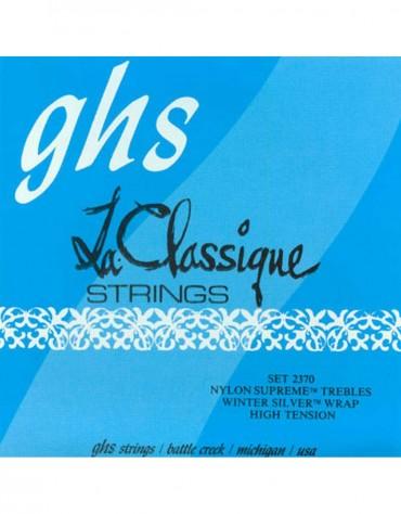 GHS 2370, LA CLASSIQUE® - High Tension, Nylon Supreme Trebles/Winter Silver Basses