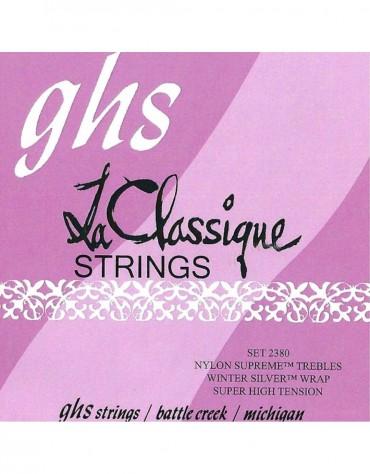 GHS 2380, LA CLASSIQUE® - Super High Tension, Nylon Supreme Trebles/Winter Silver Basses