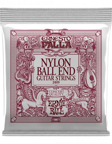 ERNIE BALL P02409 (.028-.042), ERNESTO PALLA BLACK NYLON GOLD BALL END CLASSICAL GUITAR STRINGS