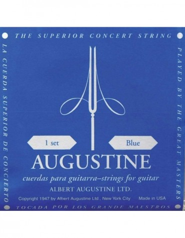 Augustine 650.437 Strings for Classical Guitar, Set of blue high