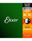 Elixir 14002, Super Light 40-95 Long Scale Nanoweb Electric Bass Strings