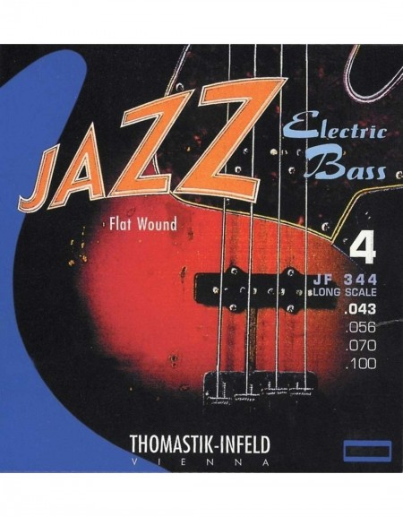 Thomastik JF 344, 682.715 Infeld Strings For Electric Bass Jazz Bass Flat wound (.043-.100)