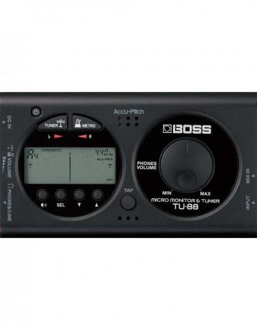 BOSS TU-88, Micro Monitor & Tuner, Black