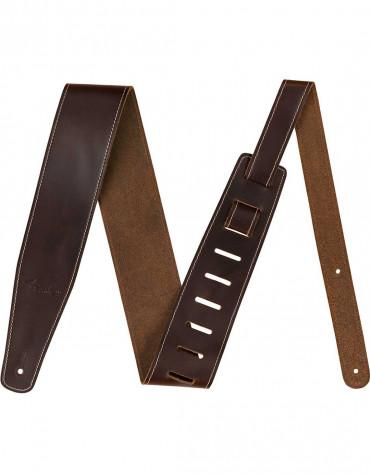 "Fender Broken-In Leather Strap, 2.5"", Brown"