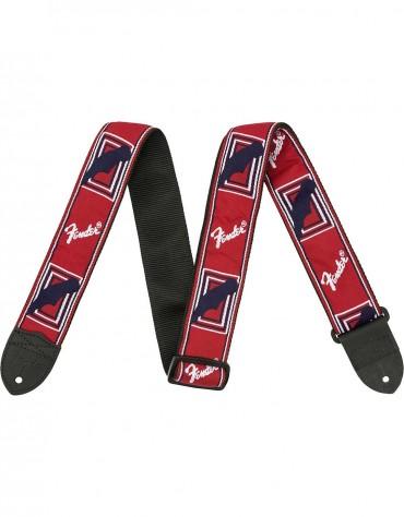 """Fender® 2"""" Monogrammed Straps, Red/White/Blue"""
