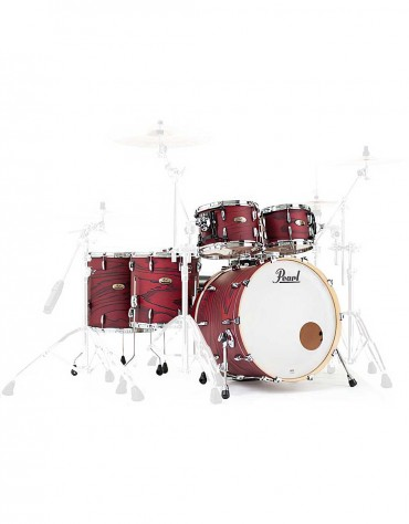 Pearl Session Studio Select STS924XSP/C847, STS1414F/C847, 5-Piece Shell Set, Scarlet Ash