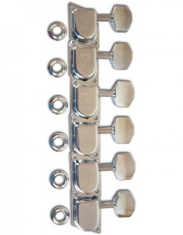 """Fender '70's """"F"""" Tuners, Chrome set of 6"""