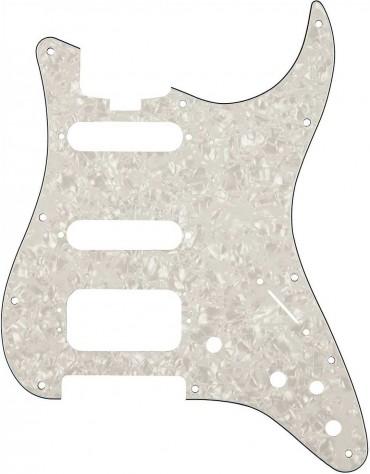 Fender Elite Strat® HSS Pickguard, White Moto