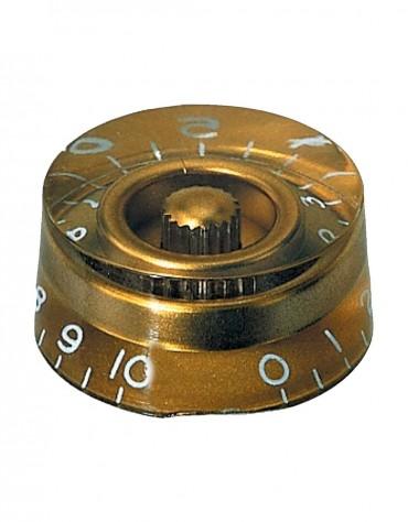 Gewa 556.001, Partsland Knob For Potentiometer, Gold Colour
