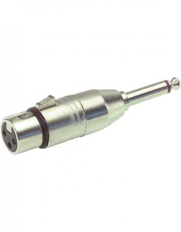 Gewa Adapter 191.609, XLR(f) - 6.3 mm mono-jack