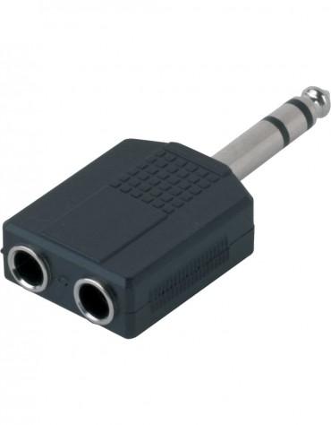 Gewa Adapter 191.617, 2x 6.3 mm stereo jack - 1x 6.3 mm stereo jack