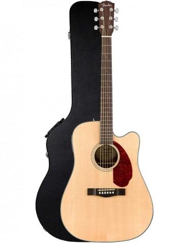 Fender CD-140SCE, Walnut Fingerboard, Natural, Includes Hardshell Case