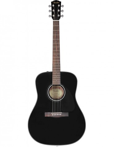 Fender CD-60 Dread V3 DS, Wlanut Fingerboard, Black