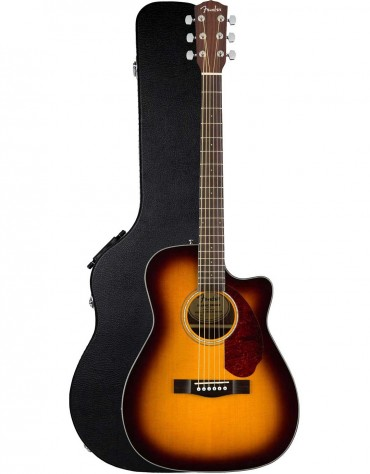 Fender CC-140SCE, Walnut Fingerboard, Sunburst, Includes Hardshell Case