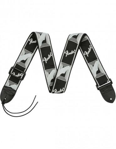 "Fender® 2"" Monogrammed Straps, Black/Light Grey/Dark Grey"