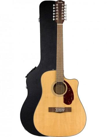 Fender CD-140SCE 12-String, Walnut Fingerboard, Natural, Includes Hardshell Case