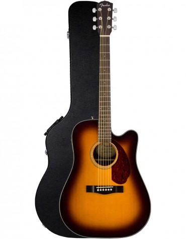 Fender CD-140SCE, Walnut Fingerboard, Sunburst, Includes Hardshell Case