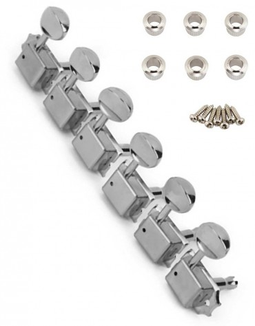 Fender Vintage-Style Strat®/Tele® Tuners with Bushings, Chrome (6)