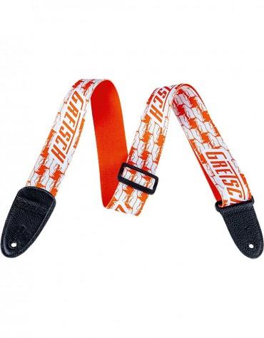 Gretsch Double Penguin Strap, Orange / White