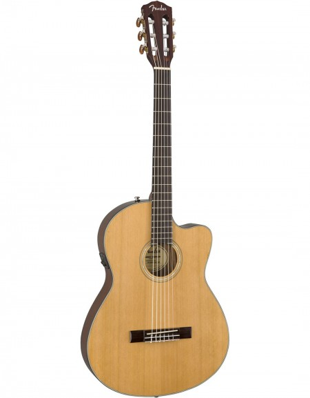 Fender CN-140SCE, Rosewood, Natural, Includes hardshell case