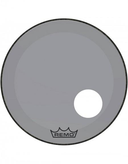 "Remo 22"" COLORTONE POWERSTROKE 3 CLEAR SMOKE BASSDRUMHEAD - P3-1322-CT-SMOH, 5"" HOLE"