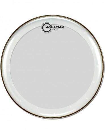 "Aquarian FB18, 18"" Force I, clear 10 mil Single Ply, Medium Weight Bass Drum Head"