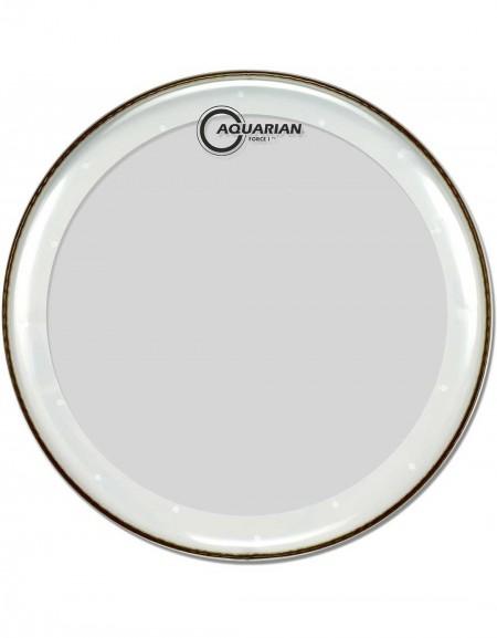"Aquarian FB20, 20"" Force I, clear 10 mil Single Ply, Medium Weight Bass Drum Head"