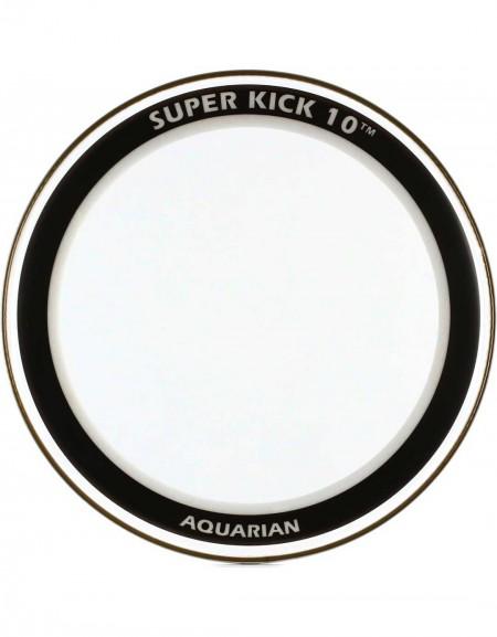 "Aquarian SK10-20, 20"" Super-Kick 10 Clear Double Ply Bass Drum Head"
